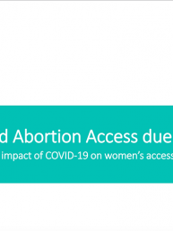 Ipas Development Foundation report on Compromised Abortion Access due to COVID-19